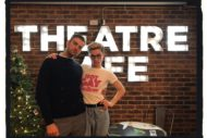Hot gay time machine at the theatre cafe