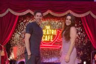 blake harrison and lucie jones at the theatre cafe