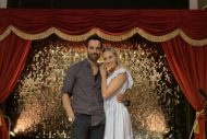 ramin karimloo & celinde schoenmaker at the theatre cafe