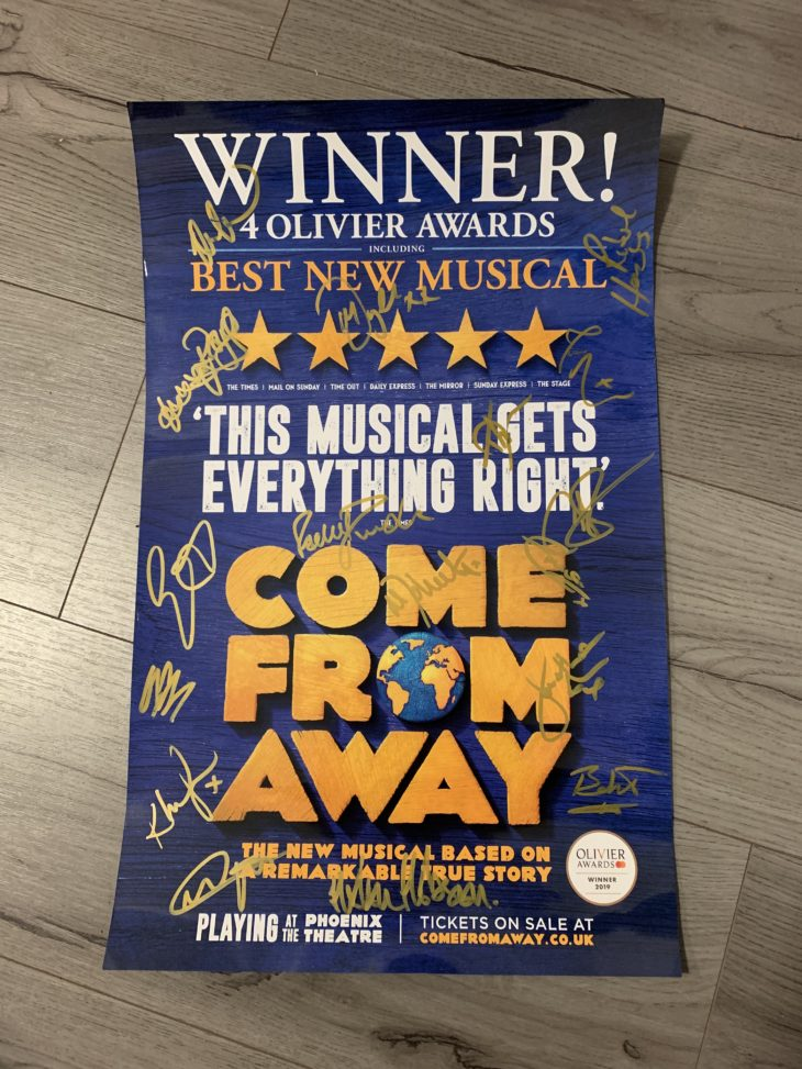come from away signed poster