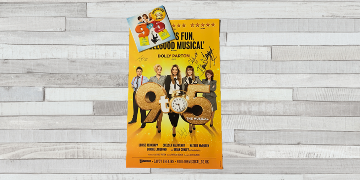 9 to 5 CD and poster the theatre cafe
