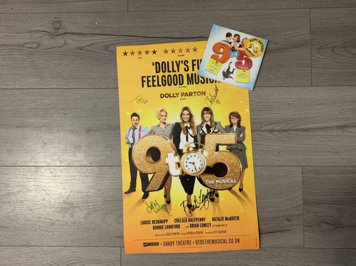 9 to 5 poster and CD