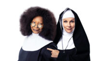 SISTER ACT. Whoopi Goldberg 'Deloris Van Cartier' and Jennifer Saunders 'Mother Superior'. Photo Matthew Murphy and Oliver Rosser